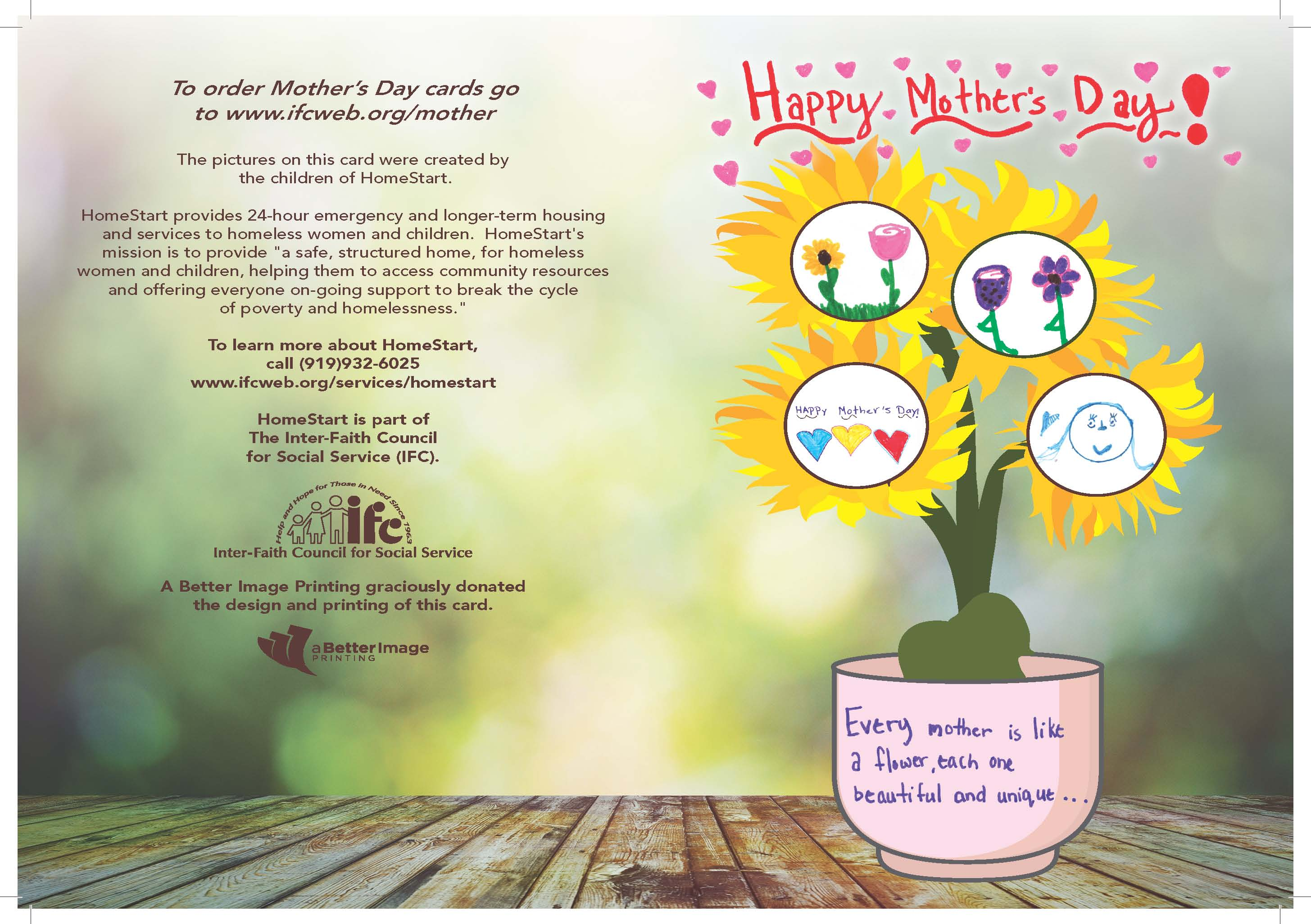 Mothers day gift cards inter faith council for social service hand flower kristyandbryce Image collections